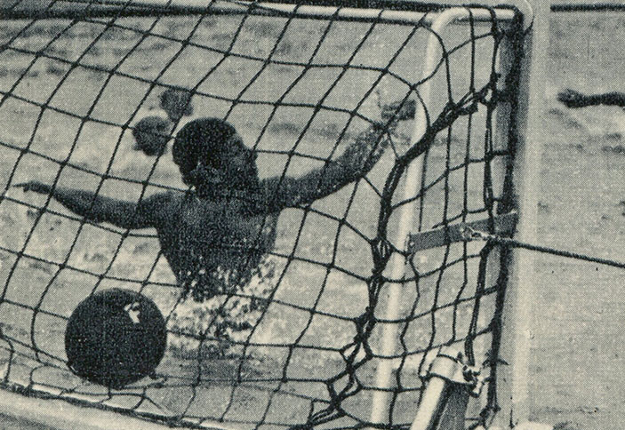 Photos Match de water-polo, photographie, 1952.
