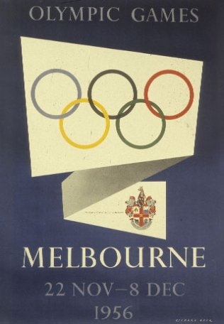 Image Olympic Games. Melbourne, affiche
