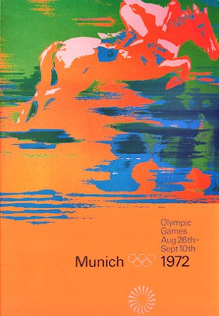 Image Olympic Games. Munich 1972. Équitation,